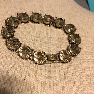 C+I crystal heirloom bracelet / rose gold stones